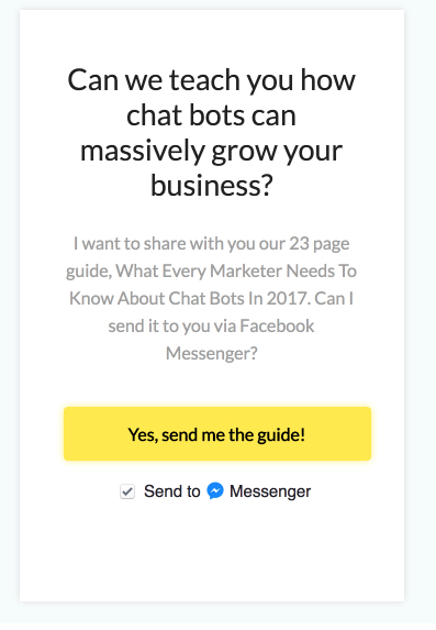 leface chat bots facebook messenger